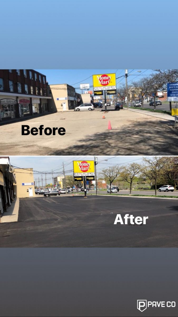 Commercial Paving - Before and after